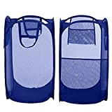 #8: SAHAYA Set of 2 Polyester Big size Mesh/Net Laundry Basket, Bag Multipurpose Fold able & Collapsible Pop-Up (38 X 38 X 70 Cm) for storage of Clothes, Toys (Random Color)