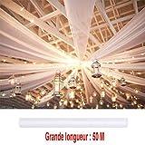 Dragées Anahita Grande tenture Organza Blanche 50 mètres