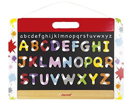 Preisvergleich Produktbild Janod Spielzeug- Magnet und Kreide Wandtafel Splash, beidseitig, 42 x 1,3 x 30 cm , Mehrfarbig