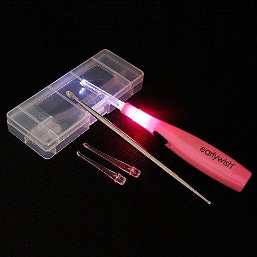 tonsil stone earlywish che rimuove la luce del led dell'utensile, dentellare, 3 punte + 1 tonsillolita di inox dell'acciaio inossidabile