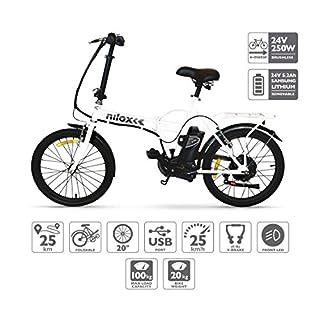 Nilox X1 E-bike, Elektrofahrrad, Herren & Damen Pedelec, E-Bike, Folding Elektrofahrrad, City Elektrofahrrad, 20'' Inch, LED lighting, 25 km/h