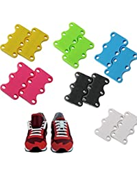 PERFECT MAGNETS Shoelace Buckles Magnetic Closure Shoe Strap Holder for Sneakers, 1 Pair, S Size(Pink/Green/Yellow, FV_PMSSCSS_02)