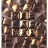 MosaicMicros 5 x 5 x 3 mm, 10 g, confezione da 100 pezzi, in ceramica smaltata, Mini mattonelle a mosaico, colore: oro scuro