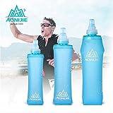 CAMTOA Pieghevole Bottiglia,500ml/250ml/150ml Soft Water Bottle,BPA-Free Bottiglia Borraccia Viaggio Pieghevole Riutilizzabile Running Ciclismo Trekking Oudoor 500ml