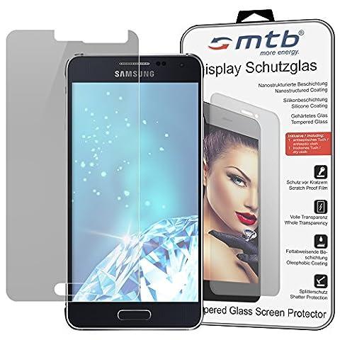 mtb more energy® Display Schutzglas aus Tempered Glass für das Samsung Galaxy Alpha (SM-G850) - 9H - 2.5D - Schutzfolie Glasfolie Protector