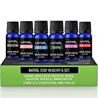 ‏‪NATRÄL Stay Healthy Set of 6, 100% Pure and Natural Essential Oil, 6/10ml Bottles‬‏