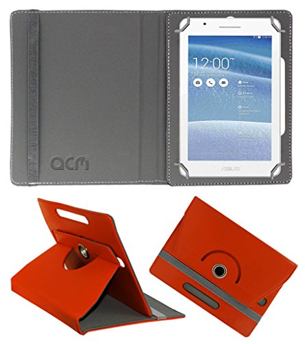 Acm Rotating 360° Leather Flip Case for Asus Tablet Fe171 Cover Stand Orange  available at amazon for Rs.149