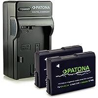 Bundle - 4en1 Cargador + 2x Batería EN-EL14 / EN-EL14a para Nikon D3100 | D3200 | D5100 | D5200 | D5300 - Nikon Coolpix P7000 | P7100 | P7700 | P7800 - [ Li-ion; 1050mah; 7.4V ]