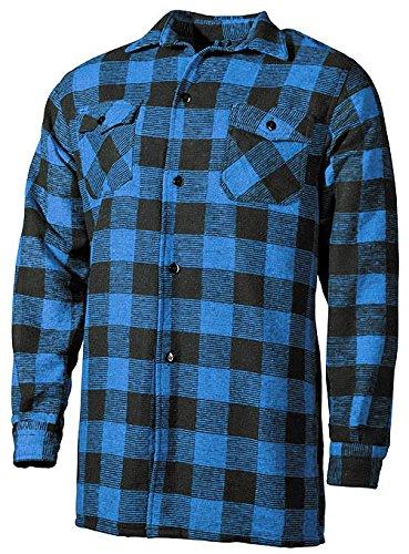Outdoor Holzfäller Hemd Woodcutter Blau-Schwarz XL