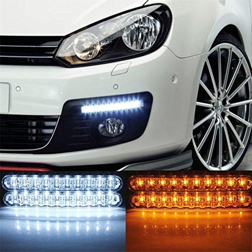 Preisvergleich Produktbild Anzer Auto-Tagfahrlichter, 12V, 30LEDs, Tagfahrlicht mit Blinkerlicht, 2 Stück