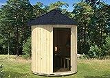 FinnTherm Saunatonne Lucas inkl. Elektro-Ofen (6 kW) | unbehandelt - Gartensauna Außensauna