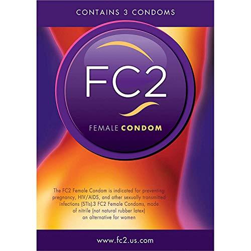 FC2 Preservativo de anticonceptivos para Embarazo, prevención de Enfermedades, sin látex, sin hormonas, 3 Unidades