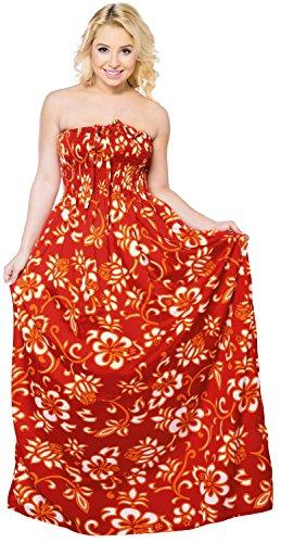 Frauen Wear maxi Baden Top-Rock halterneck Bandeau midi einteiliges Kleid Rohr vertuschen Rot
