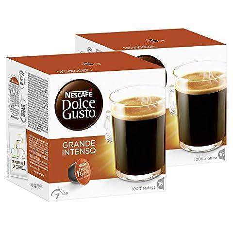 Nescafé Dolce Gusto Caffè Grande Intenso, Lot de 2, 2 x 16 Capsules