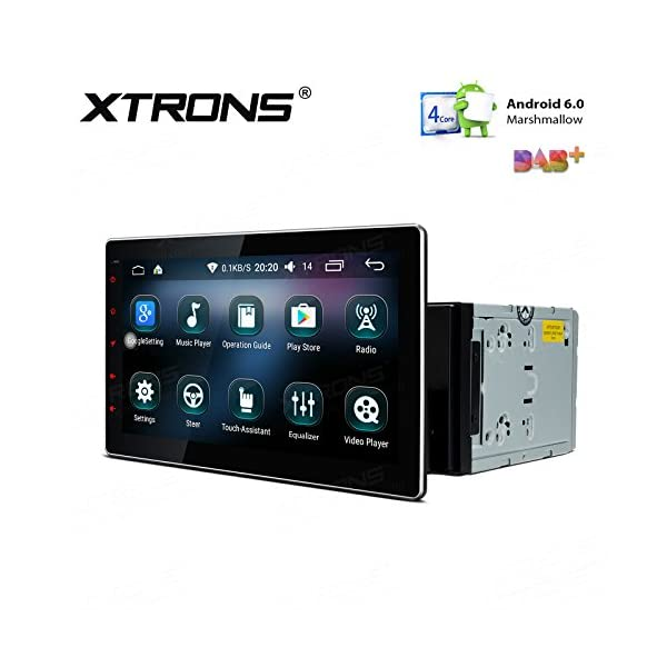 XTRONS® 10 1 Inch Double 2 Din Android 6 0 Marshmallow Car Stereo Radio  Player Quad-Core 16G ROM HD Capacitive Touch Screen Car Multimedia Player  GPS