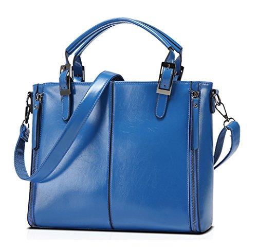 Keshi neuer Stil Damen Handtaschen, Hobo-Bags, Schultertaschen, Beutel, Beuteltaschen, Trend-Bags, Velours, Veloursleder, Wildleder, Tasche Blau