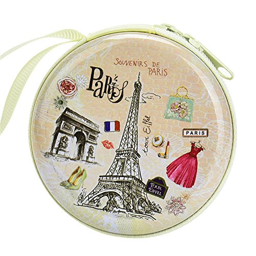 Paris Skin Zipper Round Headphones / Coin Purse Wallet Pouch Bag Key Holder For Birthday Gifts   Return Gifts   Utillity  available at amazon for Rs.149
