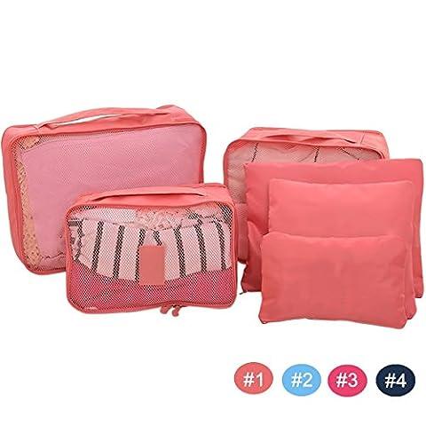Generic Light Bluee: 6PCS Multifunktionale Wasserdicht Oxford Cloth Reise Gepäck Schuhe Storage Mesh Tasche Organizer Tasche Handtasche