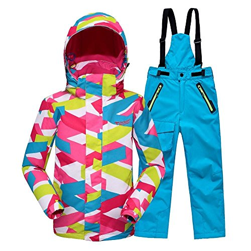 zearo-25-degrees-fille-veste-pantalons-combinaison-de-ski