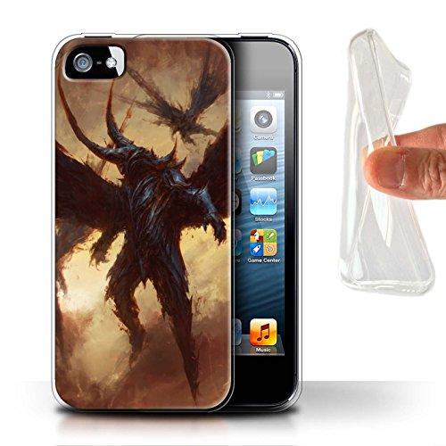 Offiziell Chris Cold Hülle / Gel TPU Case für Apple iPhone SE / Teufel/Tier Muster / Wilden Kreaturen Kollektion Flügel von Nox