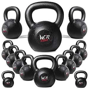 4kg 6kg 8kg 10kg 12kg 16kg 20kg 24kg 28kg30kg 32kg 36kg And 40kg Cast Iron Kettlebell Gym Tone Fitness Exercise (4 Kilograms)