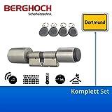 BERGHOCH Elektronisches Türschloss, RFID Schließzylinder Mifare 35/35 mm