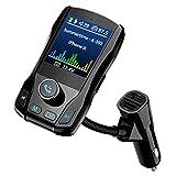 VicTsing FM-Transmitter mit Bluetooth, Farbdisplay, Freisprecheinrichtung, Kabellos, Adapter mit 4,5 cm, TFT, 3 USB-Ports und Ein-/aus-Schalter, unterstützt USB-Stick, TF-Karte, Aux-Eingang
