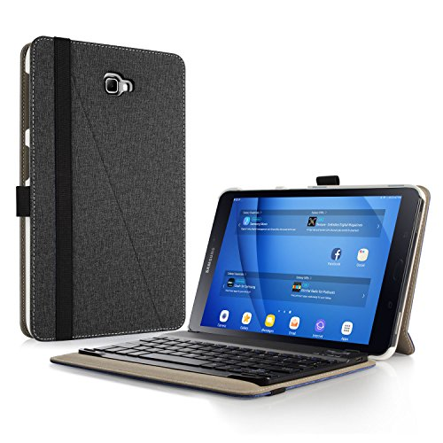 custodia con tastiera tablet 10.1 Infiland Custodia per Samsung Galaxy Tab 10.1 (2016) SM-T580N / T585N Tablet con Bluetooth Tastiera Wireless Staccabile (Italian Tastiera