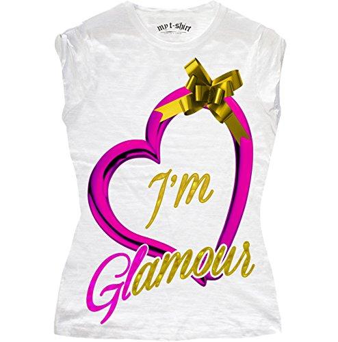 my t-shirt Damen T-Shirt I'm Glamour Bianco