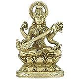 GangesIndia Göttin Vina vadini–klein Messing Statue