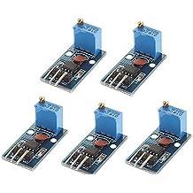 WINGONEER 5PCS NE555 Generador de pulso Módulo de frecuencia ajustable 5-12V DC