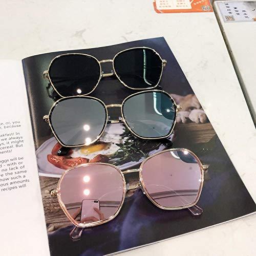 BHLTG Sonnenbrille Weibliche UV-Schutzbrille Persönlichkeit Mode Rundes Gesicht Quadrat Trend Sonnenbrille Outdoor Sports Driving Mirror-3