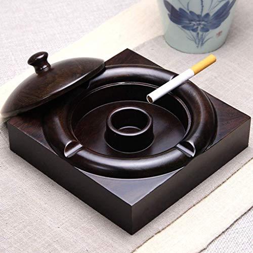 CHUTD Cenicero con Tapa de plástico para ahumador, Oficina para decoración del hogar, Oficina, Color...