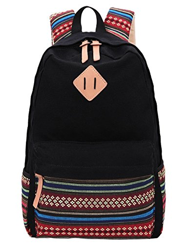black-canvas-school-bag-backpack-girls-sumersha-bohemia-boho-style-unisex-fashionable-canvas-zip-bac