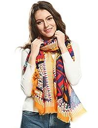 Magogo Bufanda bohemia de la vendimia Mujeres Étnico Voile bufandas Pashmina impresa colorida envoltura