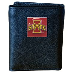 Iowa St. Cyclones Genuine Leather Tri-fold Wallet