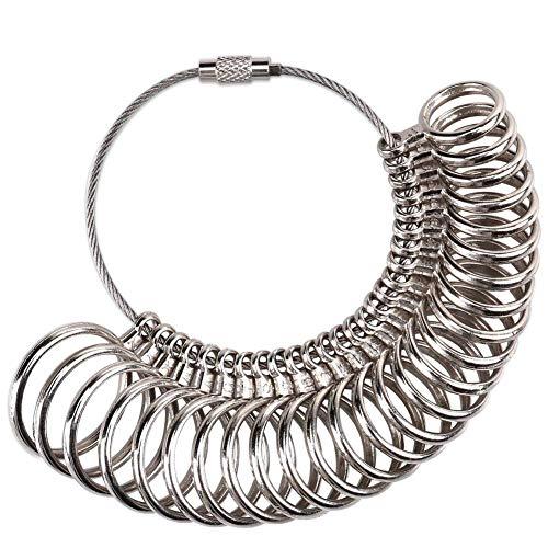 Meowoo Ringmaß Messgerät für den Durchmesser von Ringen Ringmesser Metall Werkzeug Verlobungsring Ringmaß (Metallring)
