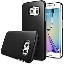 Funda Galaxy S6 Edge - Ringke SLIM ***Completo Top & Bottom Cobertura***[BLACK] Fluid Borde Curvo Touch Diseño Avanzada Dual Coating Tecnología All Around Protección de Borde Duro Carcasa Funda para Samsung Galaxy S6 Edge - ECO Paquete