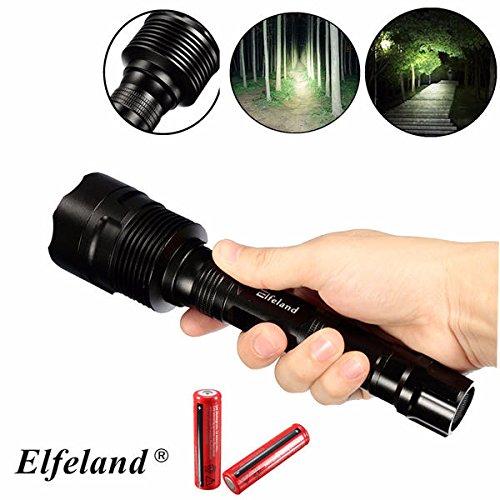 Global Elfeland 3x XM-L T6 3000LM 5Modes Gradation Super Lumineux Phare LED Lampe de Poche + 2x18650