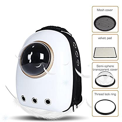 Dulcii Pet Carrier,Cat Dog Puppy Travel Hiking Camping Pet Carrier Backpack, Space Capsule Bubble Design,Waterproof Soft… 2