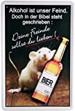 Blechschild Spruch Bier Alkohol Freunde 20 x 30cm Reklame Retro Blech 911
