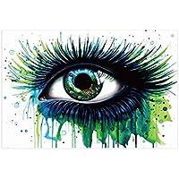 Babysbreath17 Aceite de los Ojos Verde Pintura Grande del Ojo Pared de la Lona Fotos Acuarela sin Marco Ilustraciones dormitorios Óleo Impresiones 40x60cm