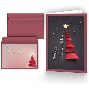 Weihnachtskarten mit umschl gen 15er set klappkarten mit weihnachtsbaum motiv f r die - Weihnachtskarten amazon ...