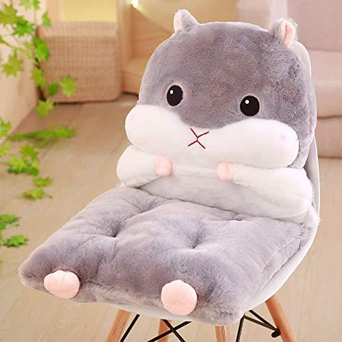 HhGold Kissen Stuhl Hamster Cartoon, Pads Und Die Sitzkissen Für Kinder [Kann Geteilt] Büro Ordner Kissen Shaggy-Grau 45X80 cm (18X31 cm) (Farbe : -, Größe : -) (Hamster-ordner)