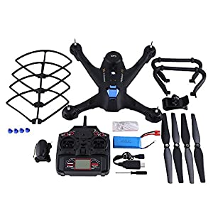 Wifi RC Drone with Camera, Dual GPS 2.4GHz Remote Control Drone Altitude Hold Headless Mode Drone Quadcopter Toy with 720P Camera by Dilwe