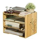 Anguang Organizer Aufbewahrungsbox für Schreibtisch Business Schule Büro Holz Bleistift Stifthalter Cup Stil 5