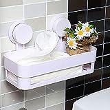 Health UK Shelf- Sistema di immagazzinamento della scaffalatura della stanza da bagno dell'ammortizzatore della resina forte della resina dell'aspirapolvere welcome ( Colore : Bianca )