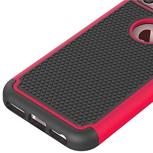 iPhone 7étui portefeuille en cuir pour livre, newstars Fleurs Papillon gaufrage en relief PU Touch Housses Protège la peau étui en cuir avec béquille pour iPhone 7emplacements pour cartes avec/poche Soccer Red