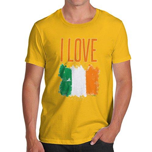 Herren I Love Ireland T-Shirt Gelb