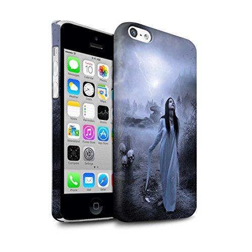 Officiel Elena Dudina Coque / Clipser Matte Etui pour Apple iPhone 5C / Somnambule/Insomnie Design / Magie Noire Collection Autel/Rituel/Décès